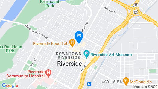 Marriott Riverside at the Convention Center Map