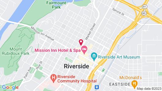 Hampton Inn Riverside Downtown Map