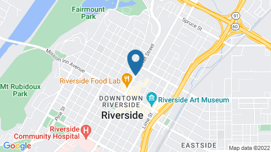 Hyatt Place Riverside Downtown Map