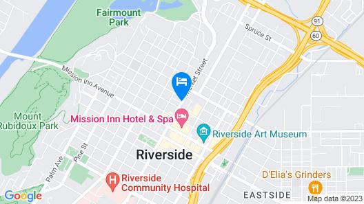 Hyatt Place Riverside Downtown Map