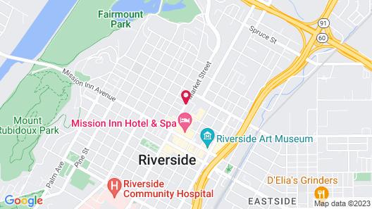 Santa Cruz Inn Riverside Map
