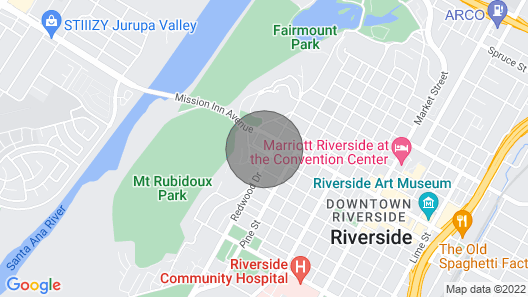 Downtown Riverside Close to Mission Inn! Map