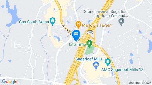 Hilton Garden Inn Atlanta NE/Gwinnett Sugarloaf Map