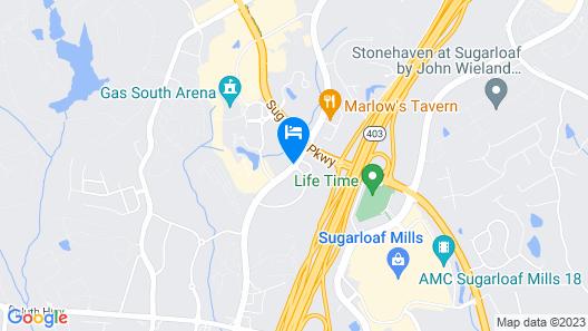 Embassy Suites by Hilton Atlanta NE Gwinnett Sugarloaf Map