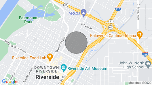 Near to the Convention Center、Downtown、UCR and RCC Map