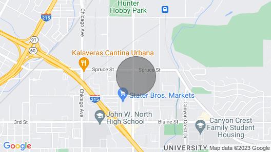 Condo Near UC Riverisde Map