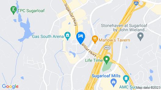 Holiday Inn Gwinnett Center, an IHG Hotel Map