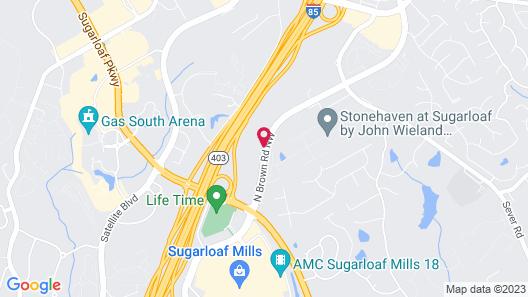Home2 Suites by Hilton Lawrenceville Atlanta Sugarloaf, GA Map