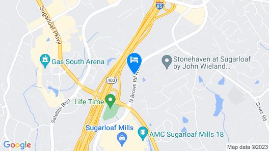 Home2 Suites by Hilton Lawrenceville Atlanta Sugarloaf Map