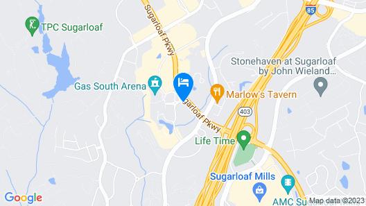Holiday Inn Gwinnett Center Map