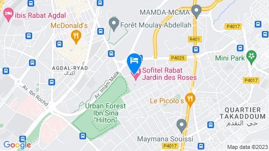 Sofitel Rabat Jardin des Roses Map