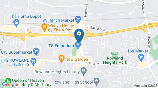 Motel 6 Rowland Heights, CA - Los Angeles - Pomona Map