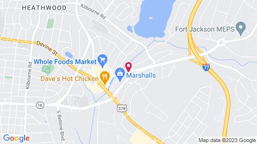 Econo Lodge Fort Jackson Map