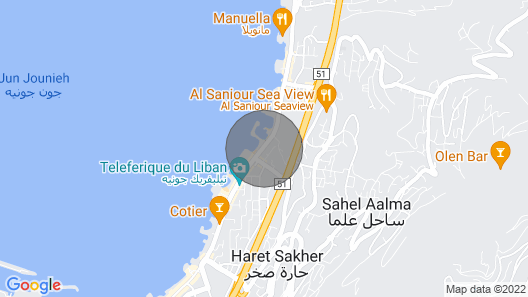 Georgeous Beachfront Chalet in Jounieh, Close to Anything! Map