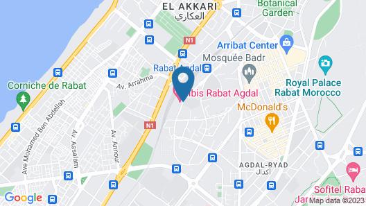 ibis Rabat Agdal Map