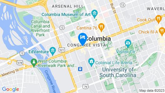Hampton Inn Columbia-Downtown Historic District Map