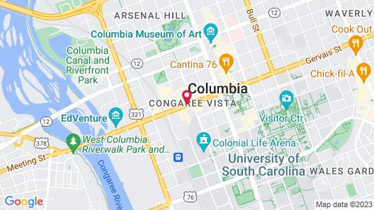Hyatt Place Columbia/Downtown/The Vista Map