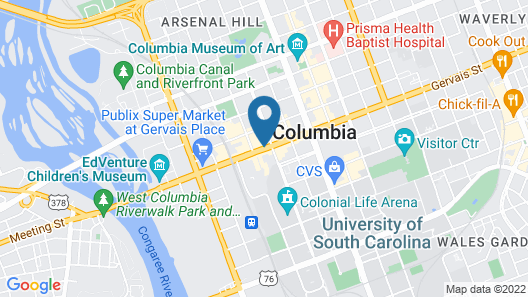 Hyatt Place Columbia/Downtown/The Vista Map