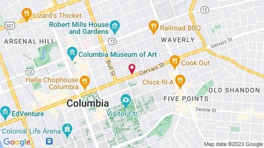 Hilton Garden Inn Columbia Downtown, SC Map