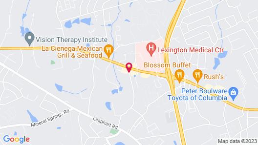 Residence Inn Columbia West/Lexington Map