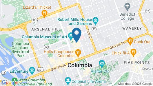 Marriott Columbia Map
