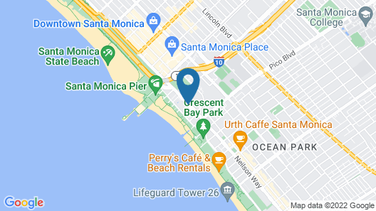 JW Marriott Santa Monica Le Merigot Map
