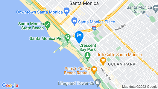 Loews Santa Monica Beach Hotel Map