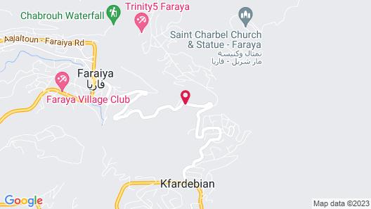 Chateau Deau Faraya Map