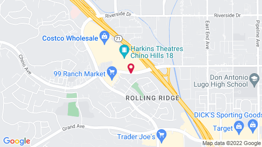 Hampton Inn & Suites Chino Hills Map