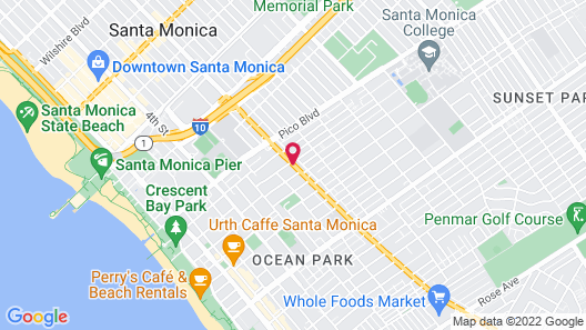 Santa Monica Motel Map