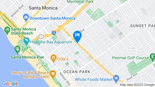 Santa Monica Motel Map