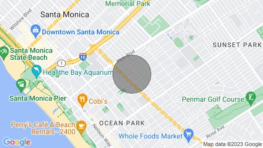 Klimt Studio w Patio and Parking 8 Blocks From Santa Monica Beaches Map