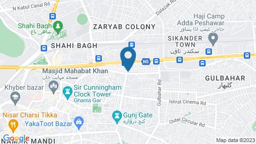 Amin Hotel Peshawar Map