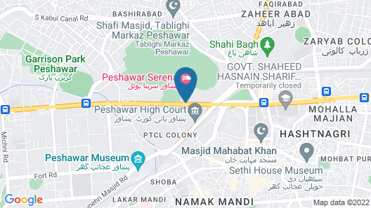 Pearl Continental Peshawar Map
