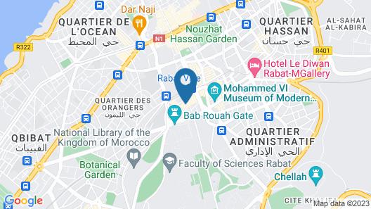 Hotel Belere Rabat Map
