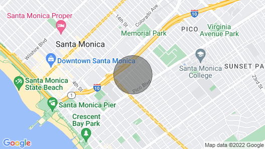 Large Room Available in a Beautiful Victorian Manor in Santa Monica Map