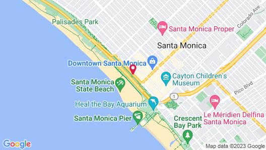 Hotel Shangri La Santa Monica Map