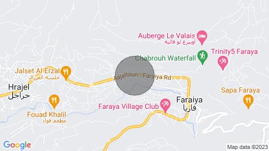Duplex Chalet with best view in Faraya Map