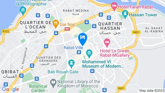 Aprt Centre Ville De Rabat CHIC Map