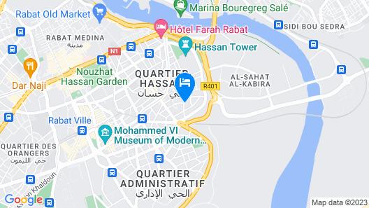 Hotel Mercure Rabat Sheherazade Map