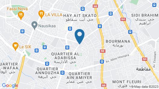 Riad Raouia Map