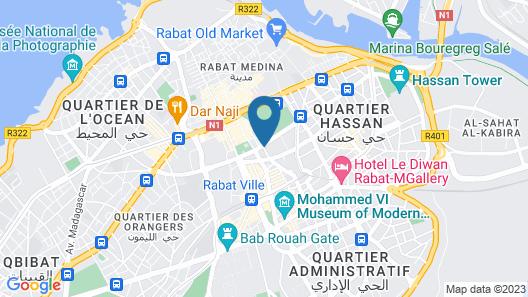 ONOMO Hotel Rabat Medina Map