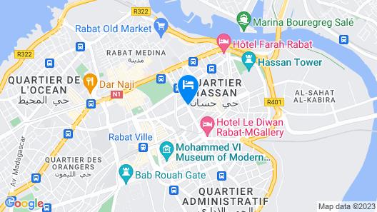 Hotel Rabat Map