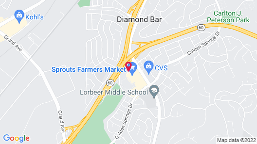 Best Western Diamond Bar Hotel & Suites Map