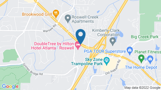 DoubleTree by Hilton Atlanta - Roswell Map