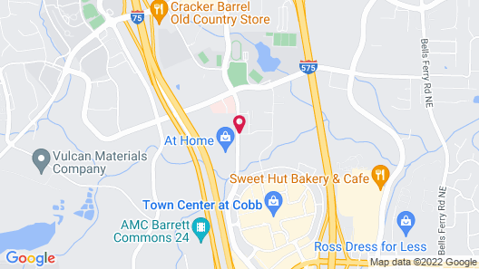 Suburban Extended Stay Kennesaw Map