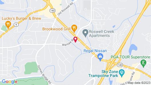 Best Western Plus Roswell / Alpharetta Map