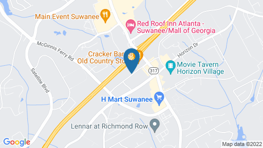 Fairfield Inn & Suites by Marriott Atlanta Suwanee Map