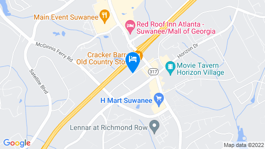 InTown Suites Extended Stay Atlanta - GA Suwanee Map