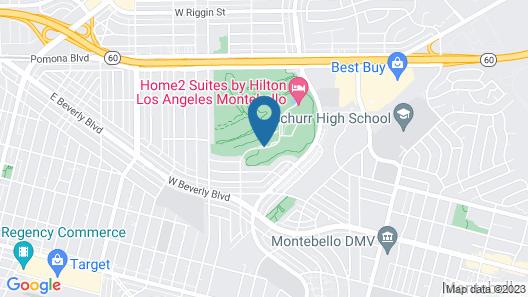 Hilton Garden Inn Los Angeles Montebello Map